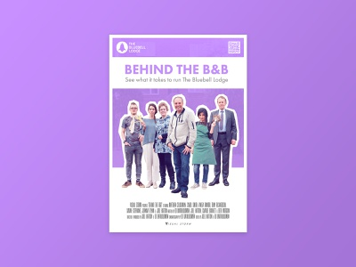 Behind The B&B - Poster typography type poster design poster photoshop photo graphic design flat colour branding