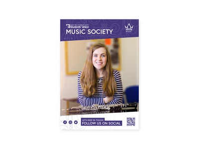 Queen Mary University Music Society - Flyer typography type poster design poster photoshop photo graphic design flyer flat colour branding