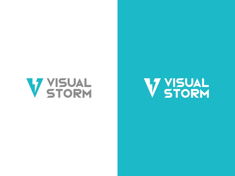 Visual Storm - Logo vector typography mark logo illustrator illustration graphic design design colours clean branding brand identity brand