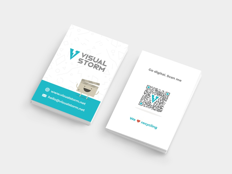 Visual Storm - Business Cards vector typography mark logo illustrator illustration graphic design design colours clean business cards branding brand identity brand