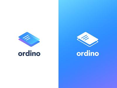Ordino - Logo vector mark logo illustrator illustration gradient typography graphic design design colours clean branding brand identity brand