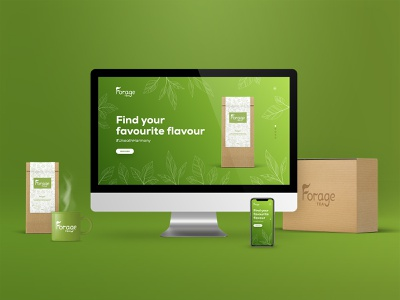 Forage Tea - Landing Page website web design web ux user interface user experience ui typography product design mockup landing page graphic design design colours clean branding brand identity brand