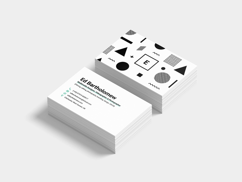 Personal Business Cards colours business cards vector typography mark logo illustrator illustration graphic design design clean branding brand identity brand