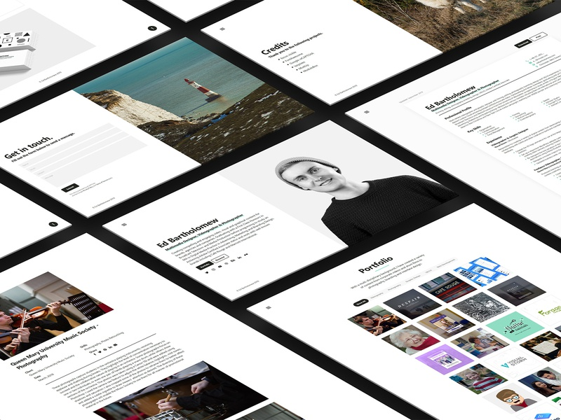 Personal Website website web design web ux user interface user experience ui typography landing page graphic design design colours clean branding brand identity brand