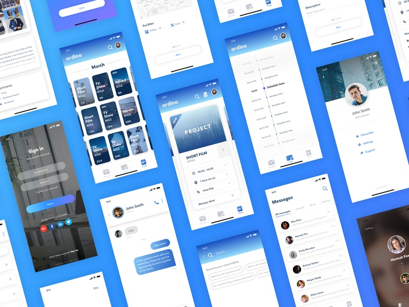 Ordino - App user interface user experience ui typography type product design mockups mobile minimal layout ios interface interaction icon flat design concept colours application app