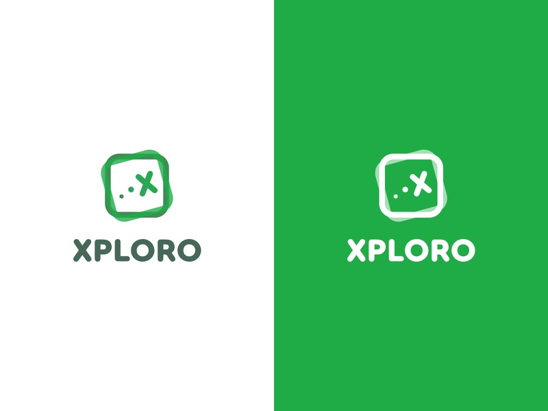 Xploro - Logo vector typography mark logo illustrator illustration graphic design design colours clean branding brand identity brand