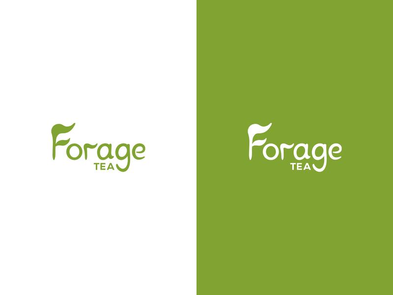 Forage Tea - Logo vector typography tea mark logo illustrator illustration graphic design design colours clean branding brand identity brand