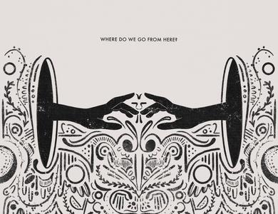 Where Do We Go From Here? lineart pattern blackhole mirror void hands icon concept illustration art graphic design art digital creative branding design illustration