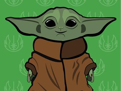 Baby Yoda Wallpaper baby yoda vector illustration ui