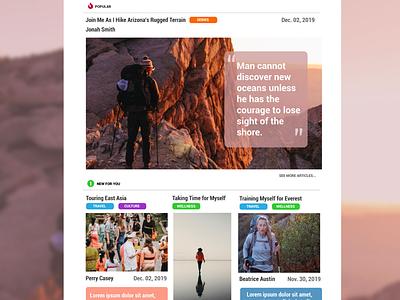 Daily UI # 035 - Blog Post blog ui ux web design design daily ui