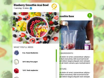 Daily UI #040 - Recipe recipes app design ui ux daily ui