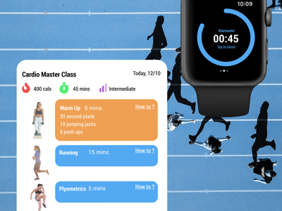 Daily UI #041- Workout Tracker activity smart watch apple watch workout ui ux daily ui