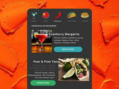 Daily UI #044 - Food/Drink menu menu icons ui ux daily ui