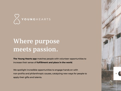 Young Hearts (See full) branding ui ux logo typography volunteering