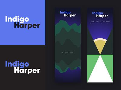 Indigo Harper - Magical Skincare illustration branding typography logo design
