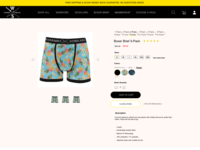 Product Page Elements for Men's boxers shop
