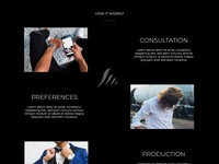 How it works Elements of Home Page for Men's pomade company