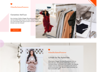 Elements of Blog on Home Page of new women's clothes site