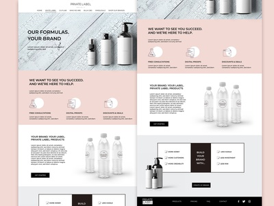 About us ui concept for label company