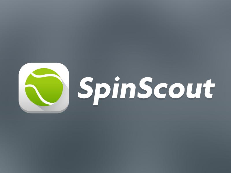 Tennis app splash screen gradient rounded long shadow material push splash icon ball tennis