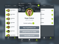 Tennis app demo ionic iphone material flat scores ranking demo players tennis