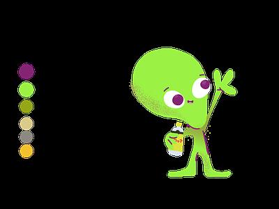 020220 UFO OD 01 12 vector branding cartoon illustration topochico uffo alien cartoon character characterdesign illustration
