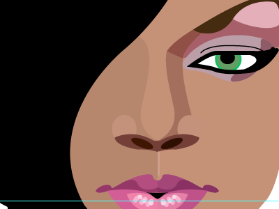 Detail lips vector illustration