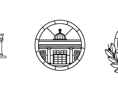 LAW build law minimal illustration icon