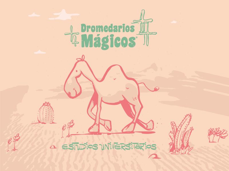 Dromedarios Mágios design mexican geometric cartoon character engraving illustration