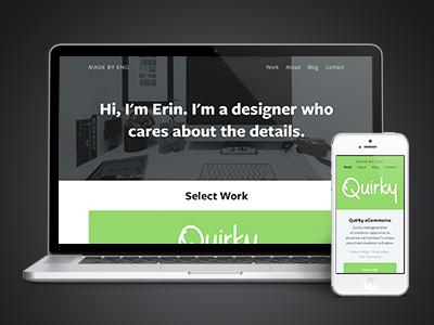 Personal site redesign portfolio responsive