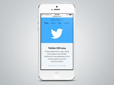 Twitter CES 2014 Case Study twitter mobile responsive case study blue portfolio