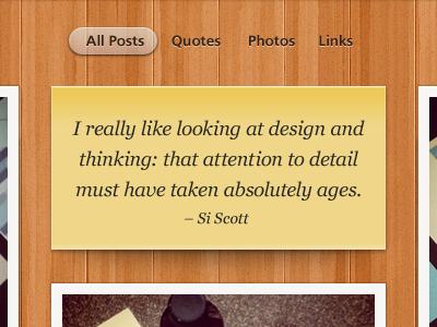 Photo Theme Blog Snippet web website web design wordpress blog tumblog quote wood texture post it paper details