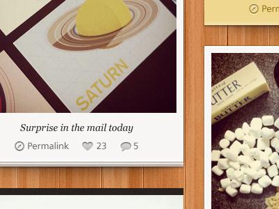 Photo Theme Blog Snippet 2 web website web design wordpress blog tumblog polaroid wood texture details