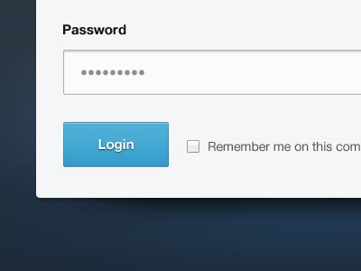 Password dot dot dot ui web web design login sign up blue input form fields web app