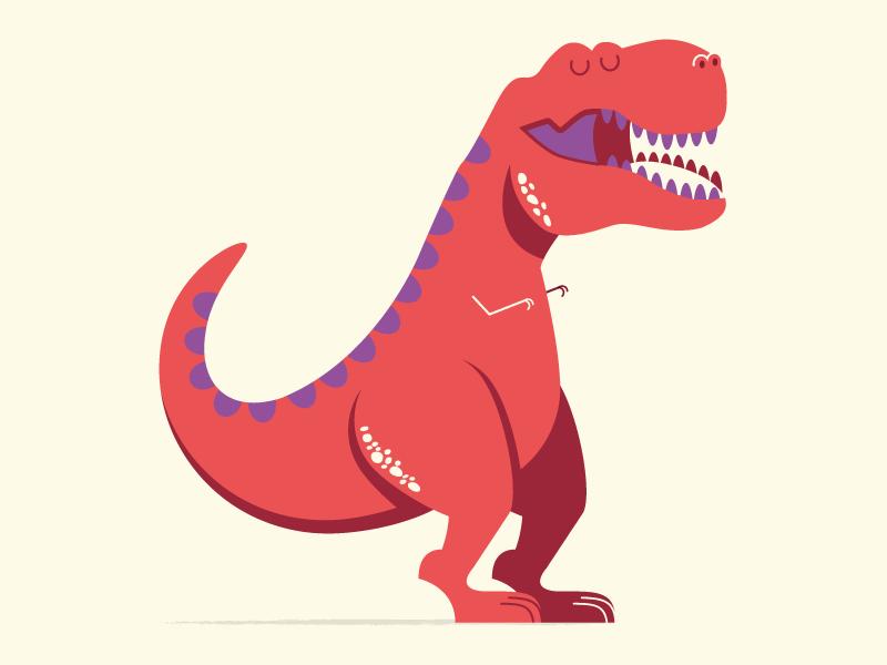 Happy Birthday T Rex Illustration Dinosaur Dino Card Jurassic