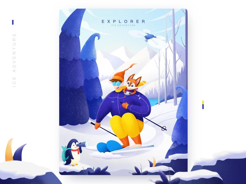 Ice adventure illustration