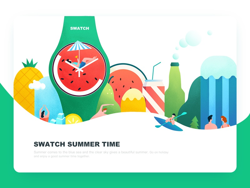 Summer Time summertime watch illustration