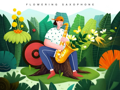 Flowering Saxophone