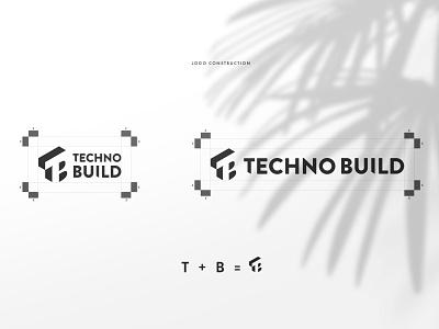 Techno Build Brand Identity construction logo construction company logotype visual identity stationary logomark logo design brand identity logo branding