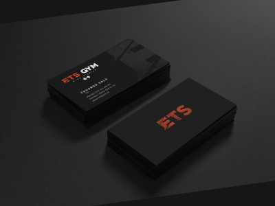 ETS GYM - BUSINESS CARD DESIGN design typography print web design print materials vector illustration logo design brand identity new style logotype logomark logodesign branding print material gym logo business card design logo