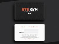 ETS GYM - MEMBERSHIP CARD