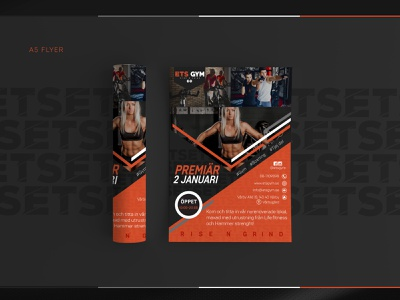 ETS GYM - A5 FLYER web design typography a5 flyer print materials print material print logo design logo illustration gym logo business card design brand identity vector style new logotype logomark logodesign branding