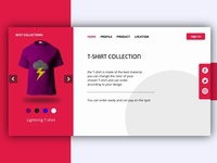 UI Design Web T-shirt Collections