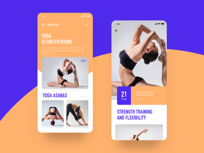 Yoga app yoga pose asanas iosapp yoga logo login article illustration app store mobile app ios onboarding app  design uxdesign