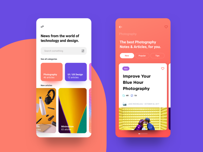 Design News photography news notes typography branding ui article app store mobile app ios onboarding uxdesign