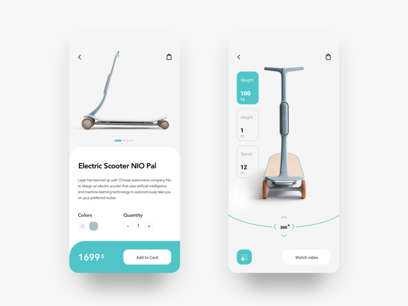 Scooter buying scooter onboarding design app store mobile app ios electronic