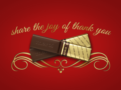 share the joy of thank you chocolate thank you