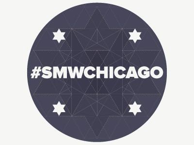 Sticker for Social Media Week, Chicago, 2013 chicago sticker illustrator