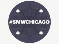 Sticker for Social Media Week, Chicago, 2013