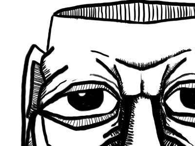 Face In Progress illustration face digital in progress